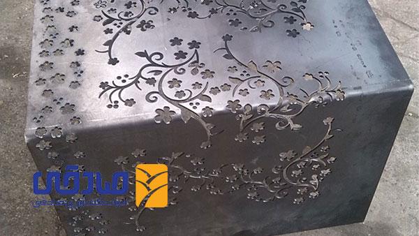 نمونه برش پلاسما CNC روی فلز توسط مجموعه تولیدی ادوات کشاورزی صادقی