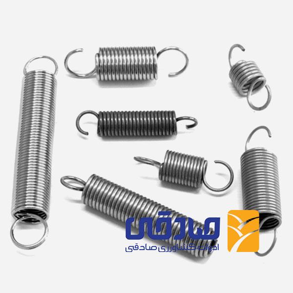 فنر extension-spring تولید ادوات کشاورزی و صنعتی صادقی
