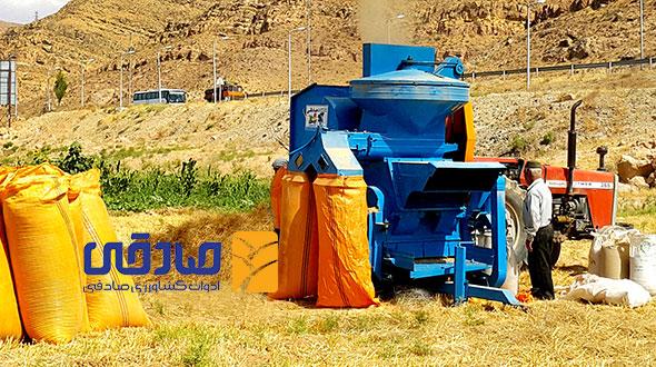 دستگاه خرمن کوب مدل D-1200 ادوات کشاورزی و صنعتی صادقی