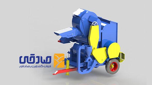 دستگاه خرمن کوب مدل B-1200 ادوات کشاورزی و صنعتی صادقی