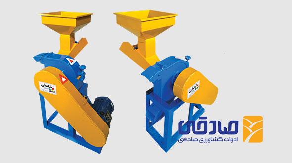 آسیاب برقی چکشی و علوفه خرد کن مدل ML493 ادوات کشاورزی صادقی