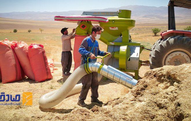 دستگاه مکنده کاه تراکتوری ادوات کشاورزی صادقی