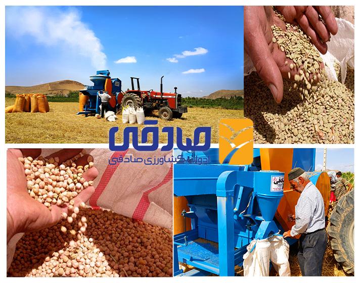 دستگاه خرمن کوب عکس نخود و لوبیا ادوات کشاورزی صادقی