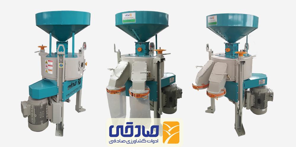 دستگاه آسیاب سنگی برقی غلات ml216 تولیدی ادوات کشاورزی صادقی